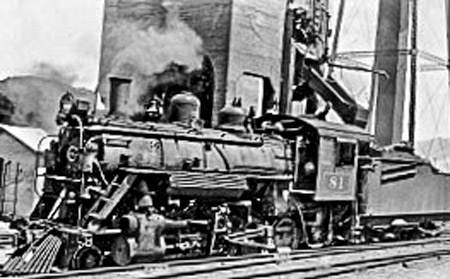 Locomotive 81 at coaling tower
