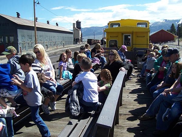 Family reunion or social group can rent part or all of the train, or the caboose