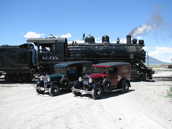 Model A and Locomotive