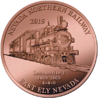 2015 Copper Coin Commemerating Locomotive #1(front)