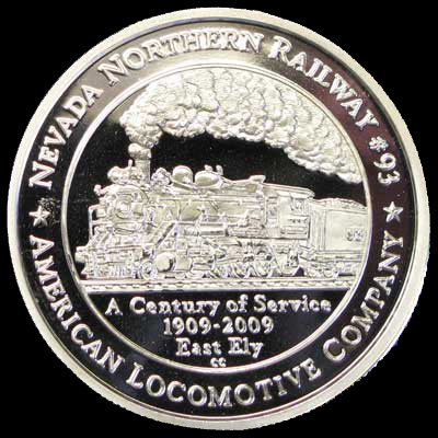 2011 Silver Centenial Coin for Locomotive 93 (front)