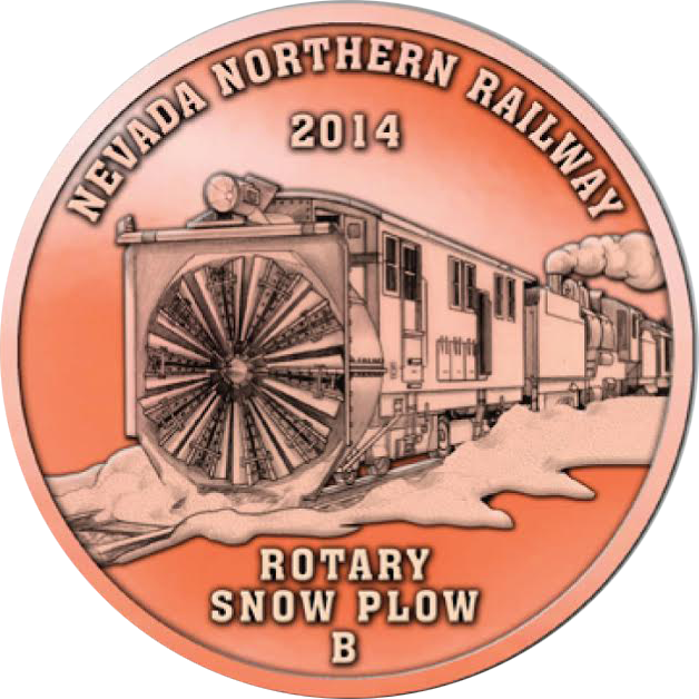 2014 Copper Coin Commemerating Rotary Plow B (front)