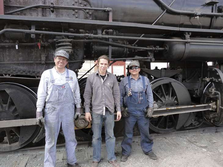 Back from the trip. A renter from Germany (center)<br>surounded by the fireman(left) and instructor(right)