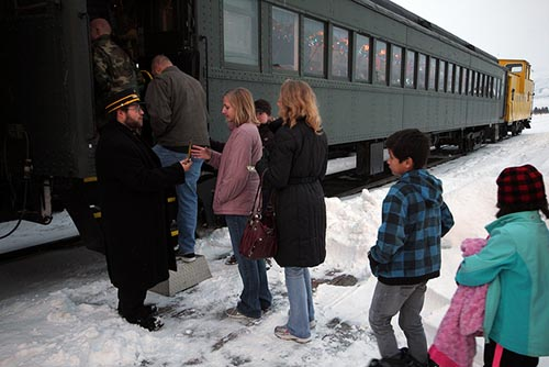 Tickets, Please.  Ready to board the Polar Express for the trip to the North Pole