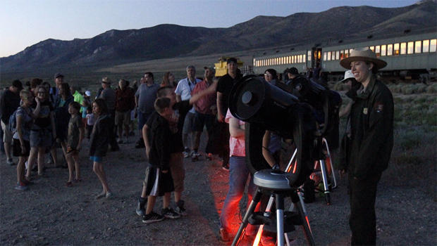 National Park Service ragners setting up for the Star gazing